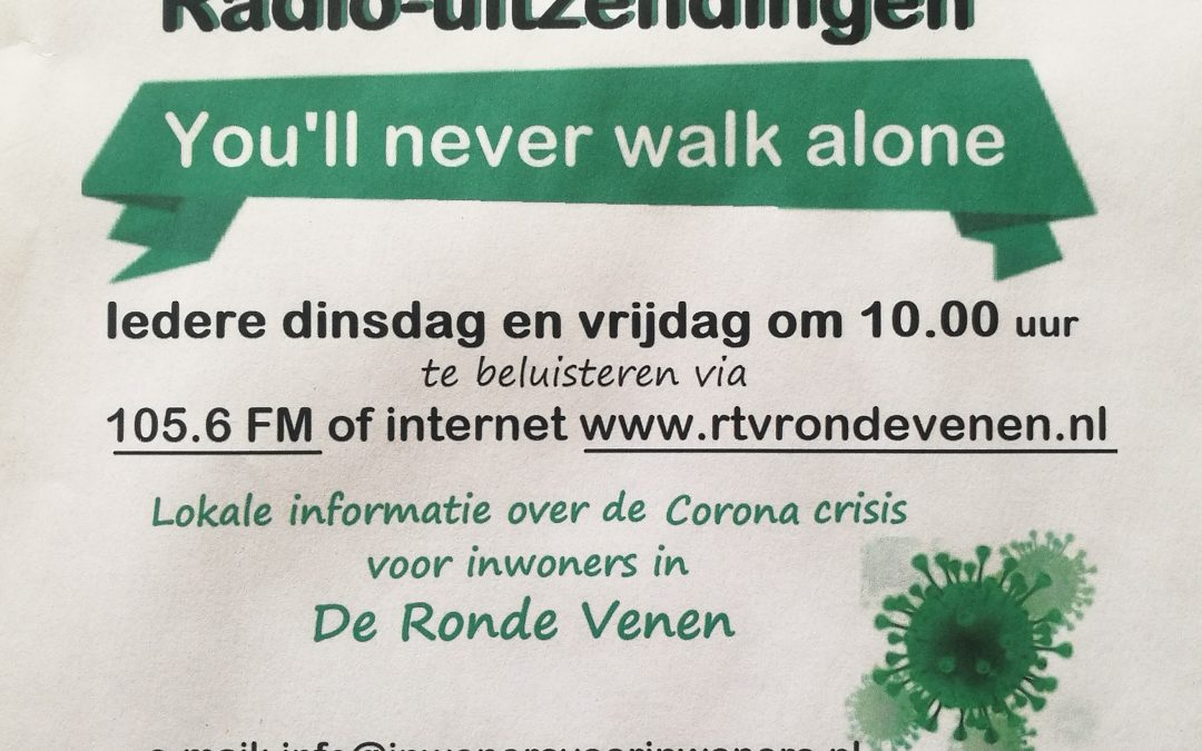Steun en Toeverlaat in radiouitzending RTV – You'll never walk alone